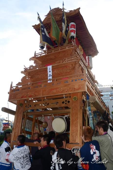 西町だんじり(西町屋台) ご殿前 西条祭り