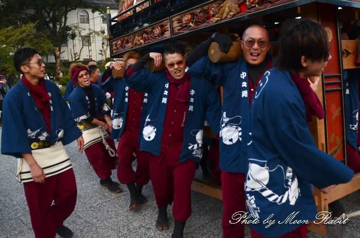 中の段だんじり(中之段屋台) ご殿前 西条祭り