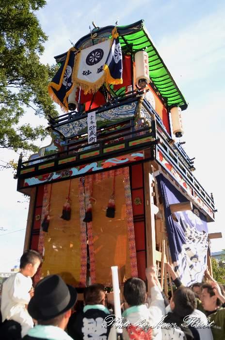 砂盛町屋台(砂盛町だんじり) ご殿前 伊曽乃神社祭礼 西条祭り2014 愛媛県西条市