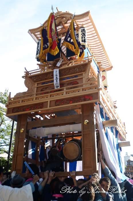 喜多川中屋台(喜多川中だんじり) ご殿前 西条祭り