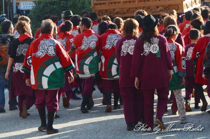 御所通屋台(だんじり) 祭り装束