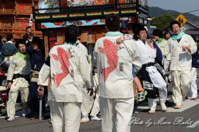 砂盛町屋台(砂盛町だんじり) 祭り装束 西条祭り 伊曽乃神社祭礼