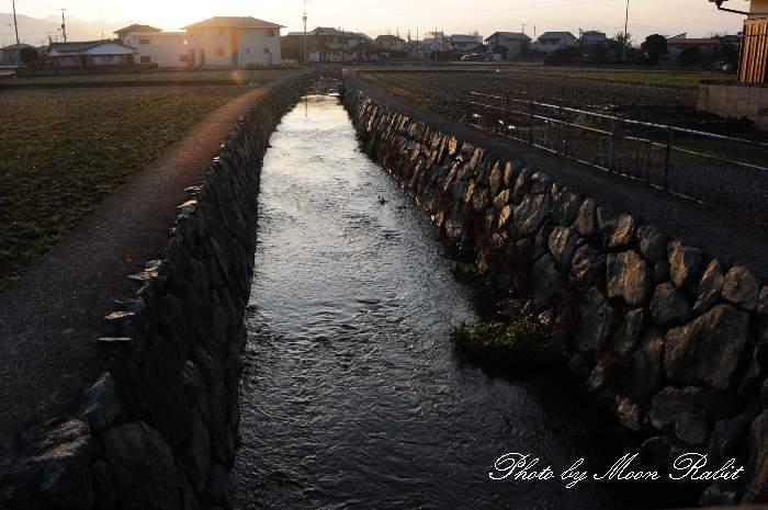 サラサラ川 中須橋 愛媛県西条市沢