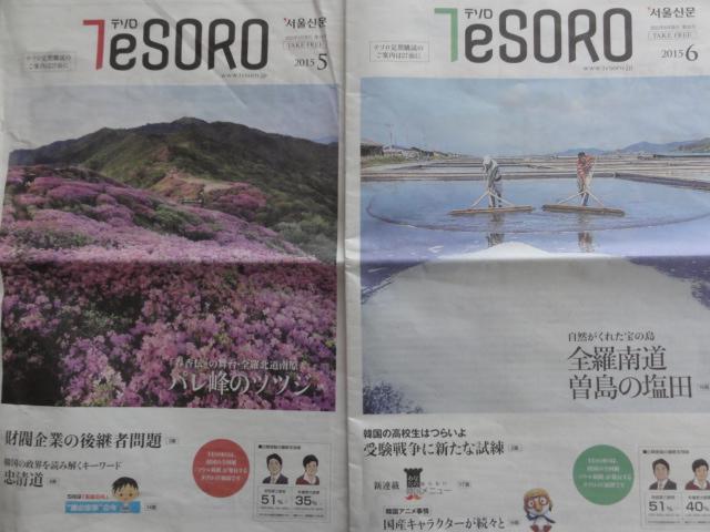 テソロ2015年5、6月号表紙