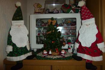 玄関 クリスマス飾り
