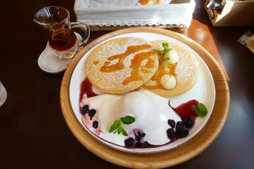 Cafe mint さん パンケーキ