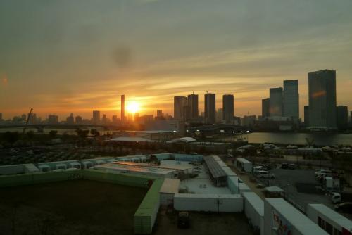 東京一人旅 夕日