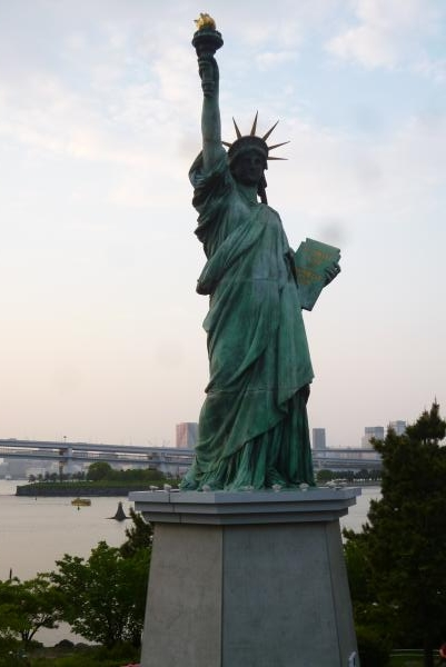 東京一人旅 お台場 自由の女神像