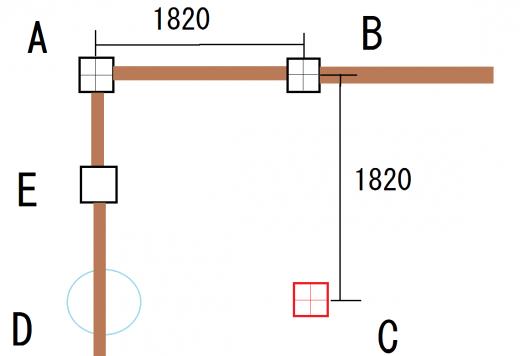 ユニットバスの柱建て02