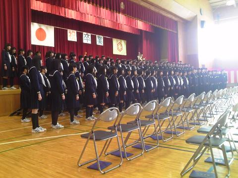 墨中卒業生の合唱