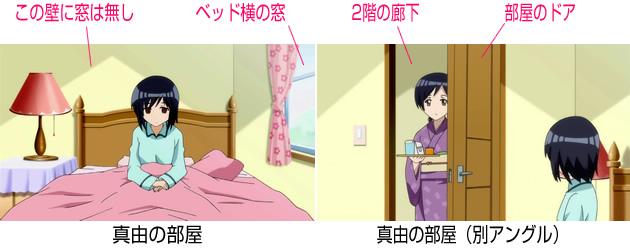 【森田さんは無口】森田家の間取り 2階 真由の部屋
