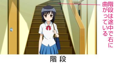 【森田さんは無口】森田家の間取り 1階 階段