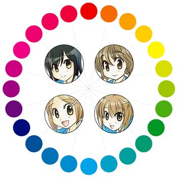 【森田さんは無口】キャラクターのイメージカラー