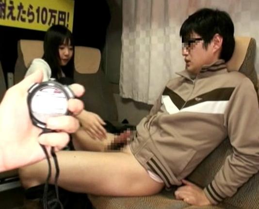 ロリータ顔の美少女が素人男のチ●ポをブーツコキで瞬殺の脚フェチDVD画像2