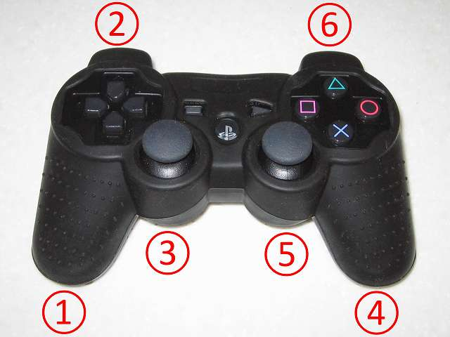 BeryKoKo PlayStation3 DUALSHOCK3 対応 ゴムカバー を DUALSHOCK3 に装着作業、今回の作業でゴムカバーを装着した順番