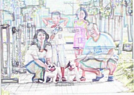 ゼクスの家族写真の巻き
