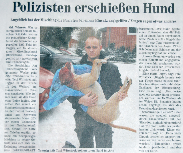 警察 犬 射殺