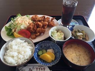 お食事処 すずめ家 唐揚げ定食1