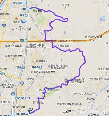 京都一周トレイルを歩く③・東山コース(伏見・深草ルート)