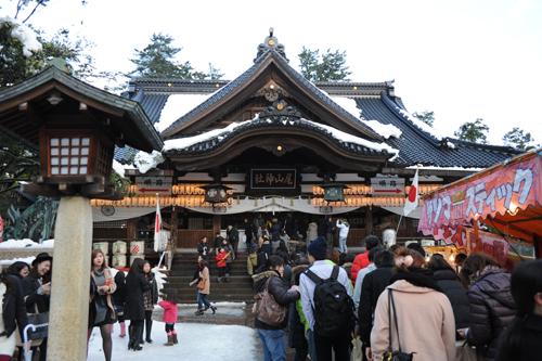 正月の尾山神社_02
