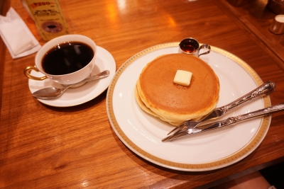 【丸福珈琲】ホットケーキ