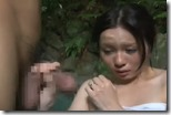 【夫婦生活妻の秘めごとエロ動画】混浴露天風呂は人妻のパラダイス。密通男の優しさも感じられて・・09