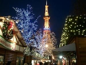 クリスマスの札幌