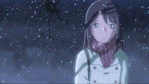 雪の中の明里