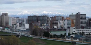札幌から見える雪山その1
