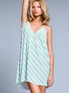 アクアストライプのビーチドレス