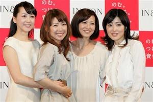 左からその子、つかさ、秀美、洋子