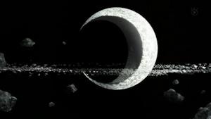 破壊された月