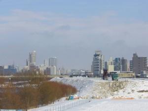 雪の豊平川