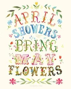 4月の雨が5月の花を咲かせる