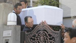 愛川欽也の棺