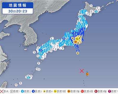 5月30日の地震