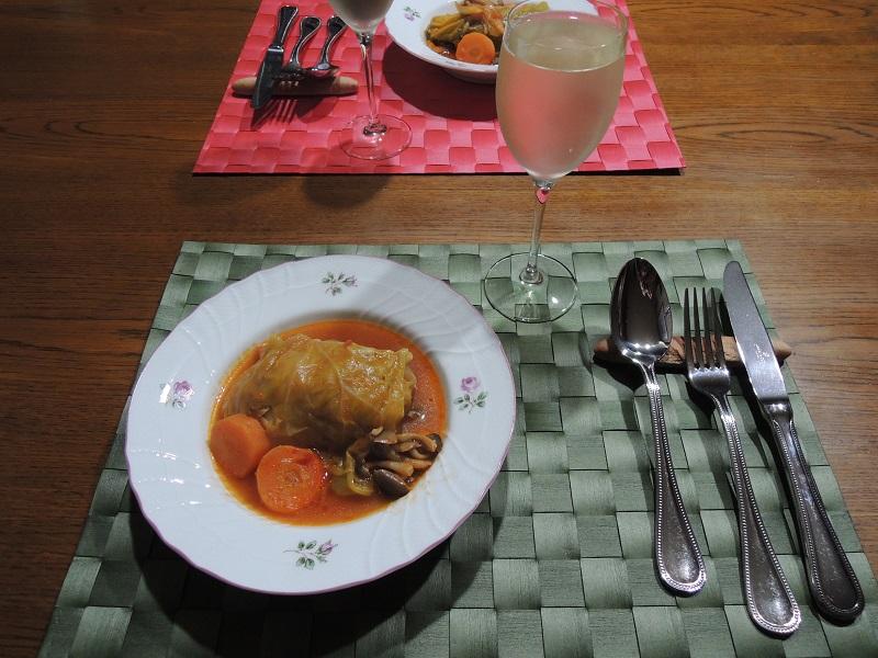 晩ご飯はロールキャベツ