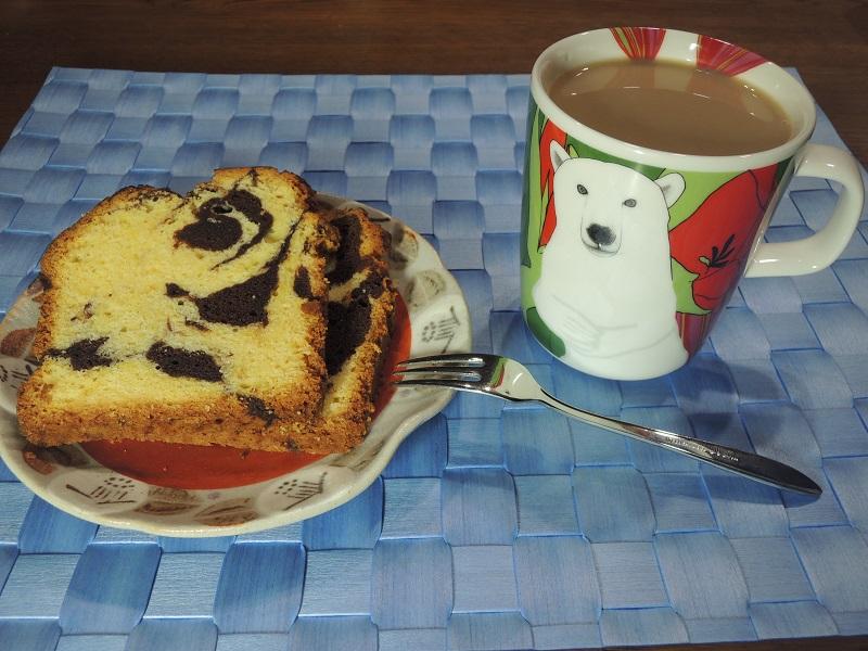 マーブルのパウンドケーキ