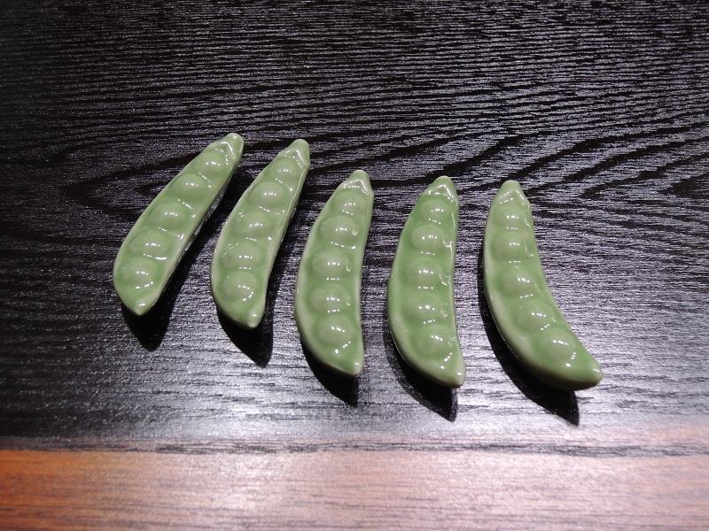 枝豆のお箸置き