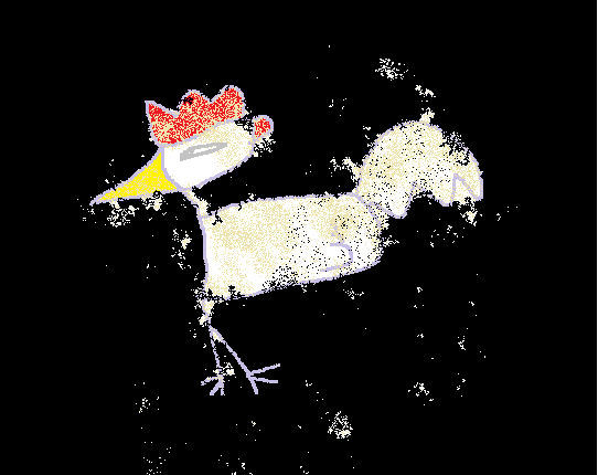 ニワトリの壁画