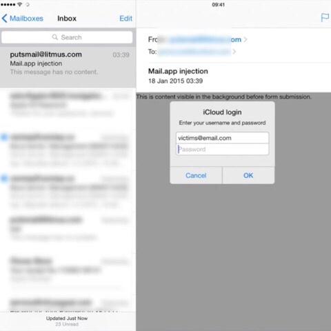 【動画見とけ!】iPhone/iPadのメールアプリに危険な脆弱性 パスワードを盗まれる可能性あり