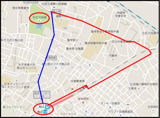 s-669-1旧古河庭園から駒込駅