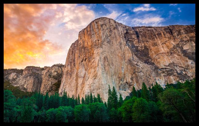 Yosemite's El Capitan Mountain Wall Wallpaper