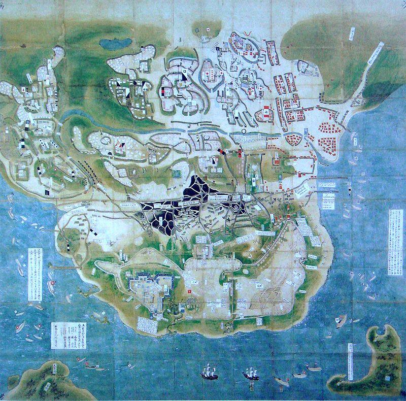 原城包囲の図