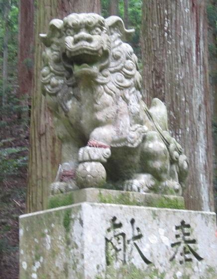 室生龍穴神社狛犬