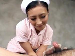 美人痴女ナースのゴム手袋アナル前立腺刺激テクニックで連続ドライオーガズム