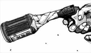 今日からヒットマン6巻 ペットボトルをサイレンサー代わり