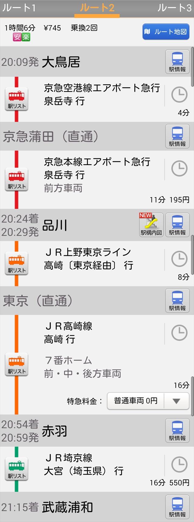 復路上野東京ライン