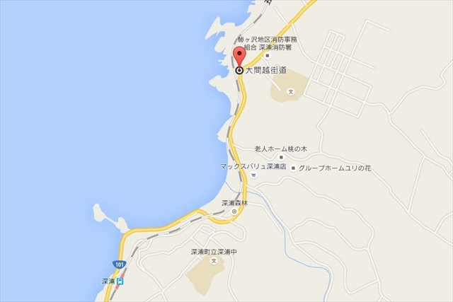 map深浦